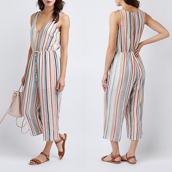 18de97eaf5b0 Charlotte Russe   Striped Wide Leg Jumpsuit